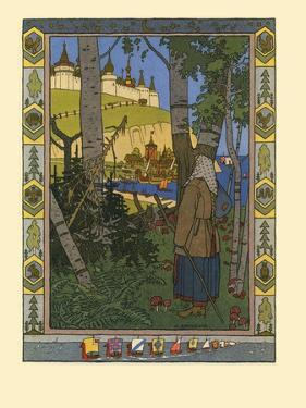 Illustration for the Fairy Tale the Feather of Finist the Falcon, 1901-1902 by Ivan Yakovlevich Bilibin