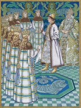 Illustration for the Fairy Tale Vasilisa the Beautiful by Ivan Yakovlevich Bilibin