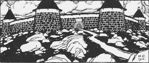 Illustration for the Poem Walls of Cain by Ivan Yakovlevich Bilibin