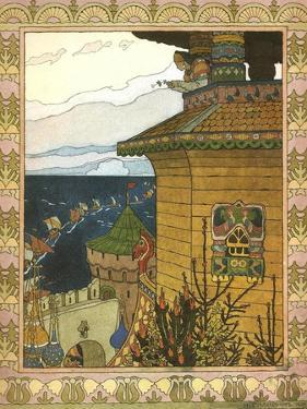 Illustration to the Fairytale the White Duck, 1902 by Ivan Yakovlevich Bilibin