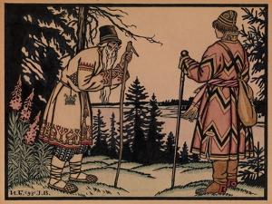 Ivan Tsarevich and Frog Princess, 1931 by Ivan Yakovlevich Bilibin