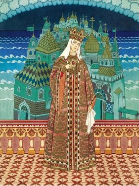 Militrissa. Costume Design for the Opera the Tale of Tsar Saltan by N. Rimsky-Korsakov by Ivan Yakovlevich Bilibin