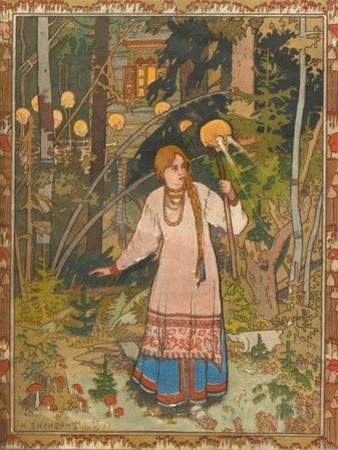 Vasilisa the Beautiful (Illustration to the Book Vasilisa the Beautifu), 1900 by Ivan Yakovlevich Bilibin
