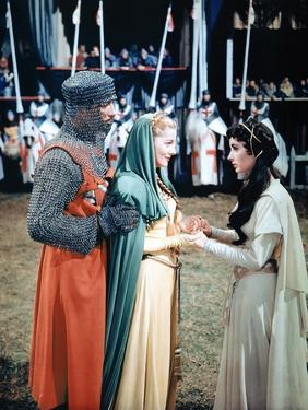 Ivanhoe by Richard THorpe with Robert Taylor, Joan Fontaine and Elizabeth Taylor, 1952 (photo)