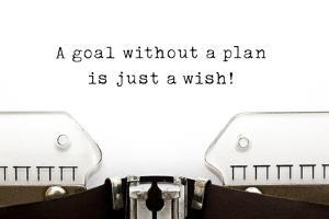 A Goal without A Plan is Just A Wish by Ivelin Radkov