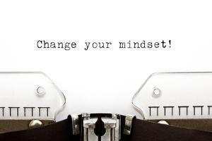 Typewriter Change Your Mindset by Ivelin Radkov