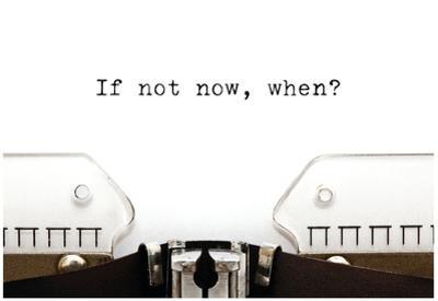 Typewriter If Not Now When by Ivelin Radkov