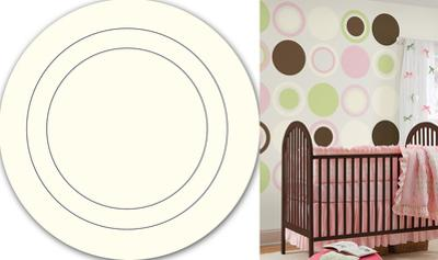 Ivory White Concentric Dot Wall Decal Sticker