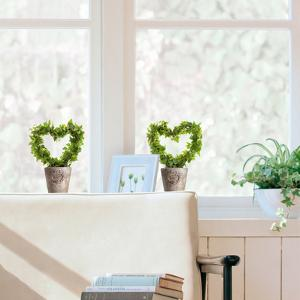 Ivy Heart Window Decal Stickers