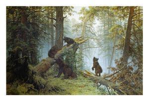Morning in a Pine Forest, 1889 by Iwan Iwanowitsch Schischkin