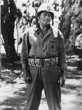 Iwo Jima Sands of Iwo Jima by Allan Dwan with John Wayne, 1949 (b/w photo)