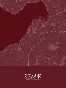 Izmir, Turkey Red Map
