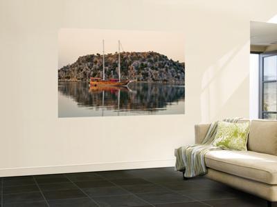 Gulet Boat at Kalekoy Harbour at Dawn by Izzet Keribar