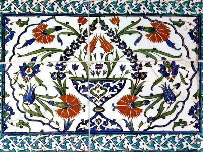 Iznik Tiles Detail at Hunkar Kasri