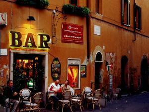 Outside Bar at Trastevere, Rome, Lazio, Italy by Izzet Keribar