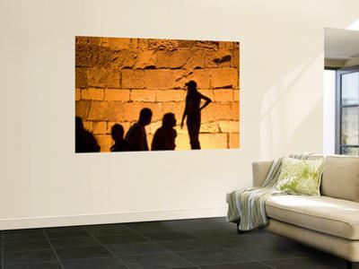 Shadows on Ancient Citys Walls at Night by Izzet Keribar