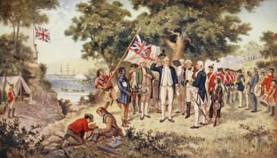 Captain Cook Taking Possession of New South Wales, 1770