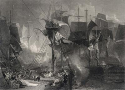 The Battle of Trafalgar, The Victory at the Moment That Nelson was Wounded