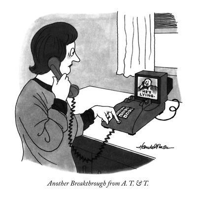 Another Breakthrough from  A. T. & T. - New Yorker Cartoon