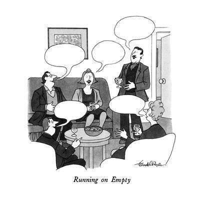 """Running on Empty"" - New Yorker Cartoon"