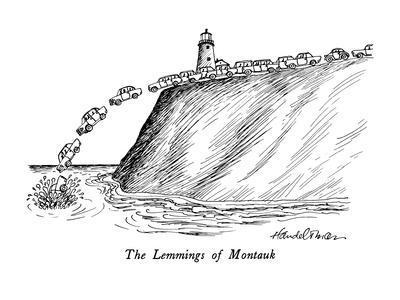 The Lemmings of Montauk - New Yorker Cartoon