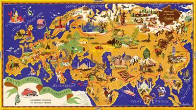 Around the World Map - Chocolat Menier - French Chocolate Company