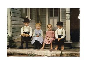 An Informal Group Portrait of Amish Children by J. Baylor Roberts