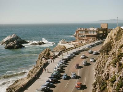 World Famouse Cliff House Restaurant as Seen from Sutro Heights on the Oceanside of San Francisco