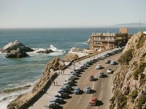 World Famouse Cliff House Restaurant as Seen from Sutro Heights on the Oceanside of San Francisco by J. Baylor Roberts