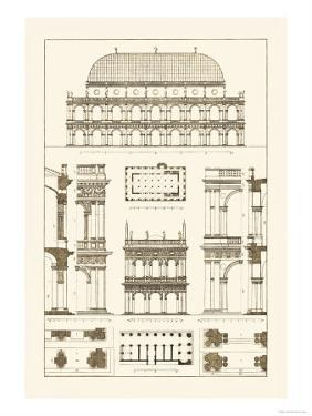 Basilica at Vicenza and Library of St. Marks at Venice by J. Buhlmann