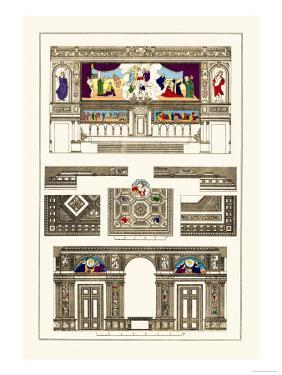 Decoration of Large Halls, Polychrome by J. Buhlmann