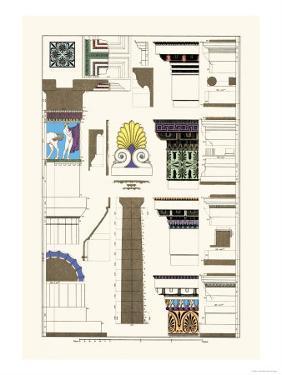 Details of Parthenon, Polychrome by J. Buhlmann
