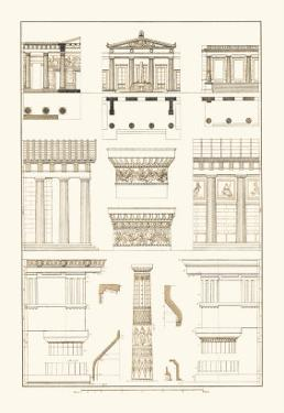 Doric Order, Temple of Zeus and Cased Column by J. Buhlmann