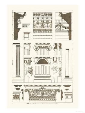 Entablatures and Capitals by J. Buhlmann