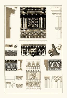 Entablatures, Terracottas and Cymas by J. Buhlmann