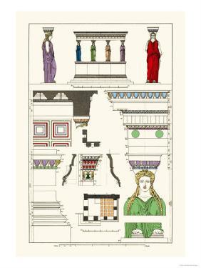 Porch of Caryatids, Polychrome by J. Buhlmann