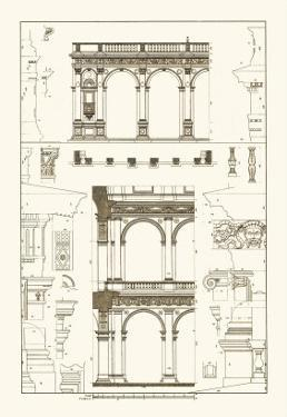 Porch of the Cathedral of Spoleto and Arcade from Palazzo Farnese by J. Buhlmann