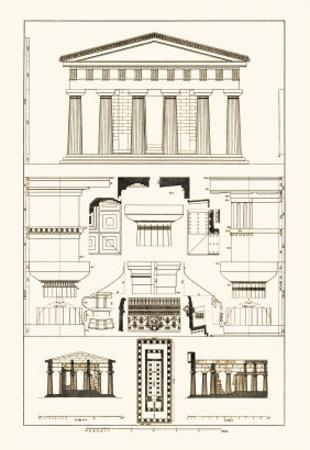 Temple of Poseidon at Paestum by J. Buhlmann
