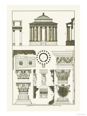 Temple of Vesta at Tivoli, Incantana at Salonichi by J. Buhlmann
