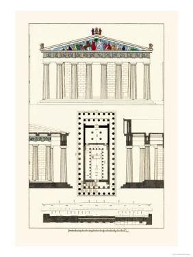 The Parthenon at Athens, Polychrome by J. Buhlmann