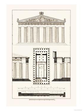 The Parthenon at Athens by J. Buhlmann