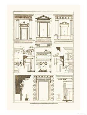 Windows of Palazzo Non Finito, Palace and House at Rome by J. Buhlmann