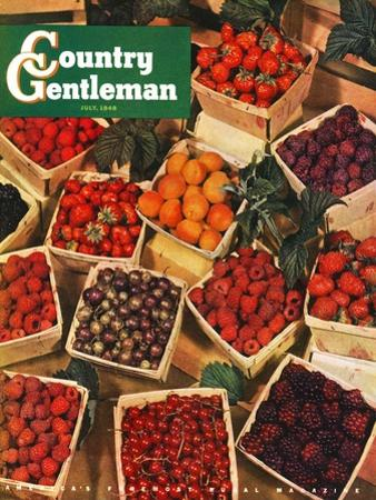 """""""Pints of Fruit and Berries,"""" Country Gentleman Cover, July 1, 1949"""