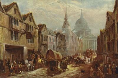 Entrance to La Belle Sauvage Inn Yard, Ludgate Hill, London