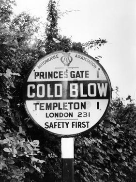'Cold Blow' Signpost by J. Chettlburgh