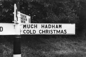 'Cold Christmas' Sign by J. Chettlburgh