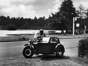 Motorbike and Sidecar by J. Chettlburgh