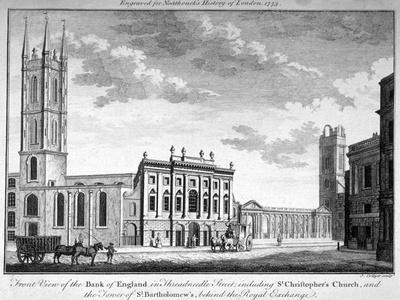 Front View of the Bank of England, City of London, 1773