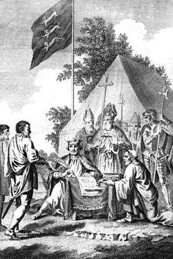 King John Signing Magna Carta, 1215 (C18th Centur) by J Collyer