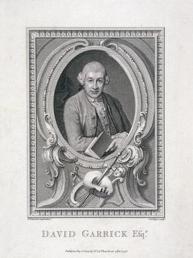 Oval Portrait of David Garrick, 1776 by J Collyer